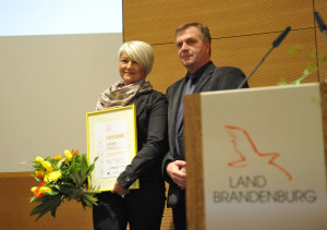 Corina Reifenstein mit ihrem Laudator